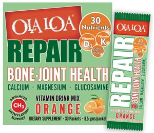 Image of the Ola Loa REPAIR product box front with packet